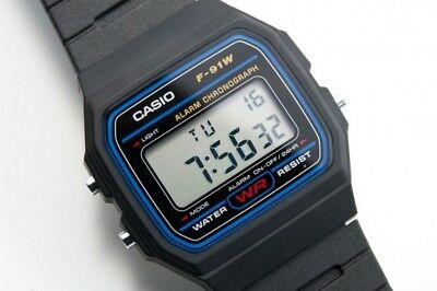 Casio F91W-1 Wrist Watch Casio F91W Digital Alarm Stopwatch 3ATM Water Resist