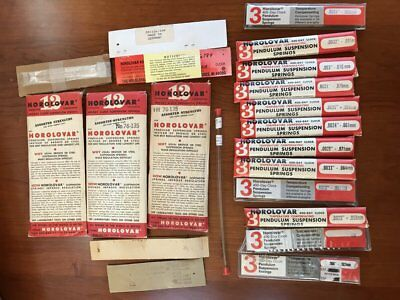 Mixed lot of aprox 20 packages of HOROLOVAR 400 day suspension springs
