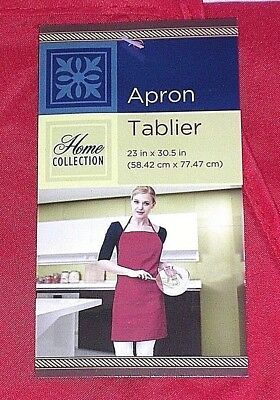 Solid Red Adult Apron Kitchen Restaurant Cooking Bar Cafe Shop Work Strap NEW