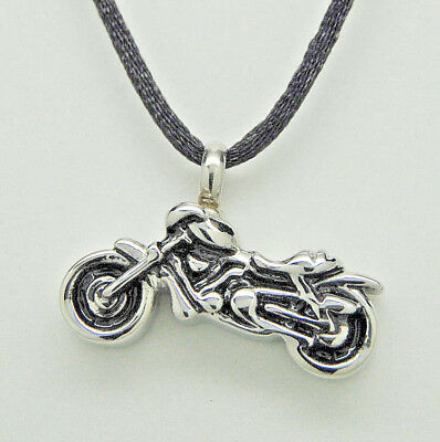 Motorcycle Cremation Jewelry Biker Urn  Necklace Harley Style Memorial Keepsake