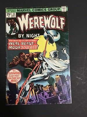 WEREWOLF BY NIGHT # 33 FN 6.0 2nd APPEARANCE MOON KNIGHT MARVEL COMICS