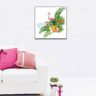 Animal Flamingo Plant Canvas Painting Art Poster Kids Room Wall Pictures Decor