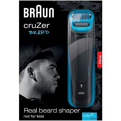 Braun Men CruZer 5 Beard 6-Length Stubble Trimmer Rechargeable Face Style Shaver