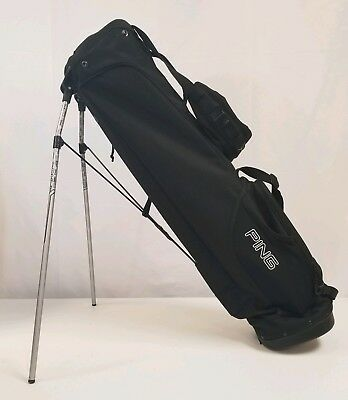 Ping L8 Stand Golf Bag Black Dual Strap 4 Way Divider No