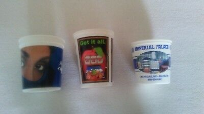 3  Las Vegas Casino Pales, Money  Buckets 2001, Aladdin,new York,imperial,palace