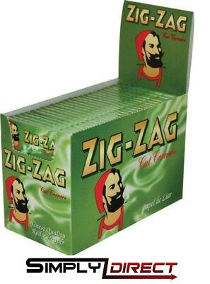 Zig Zag Green Rizla/Rolling Papers 20 Packs X 50 Papers