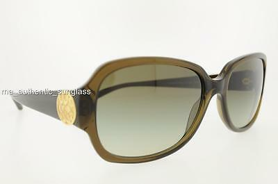 371cbf03b0 Coach Sunglasses Hc 8015 L019 Allie 50308E Dark Olive Green Gradient  Authentic