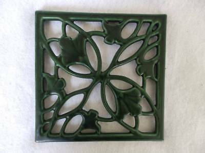 Vintage French Cast Iron Trivet~Modele Depose The Green House~Mission Arts&craft