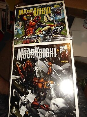 Vengeance of the Moon Knight #7 & #8 DEADPOOL Variants htf rare super hi grades