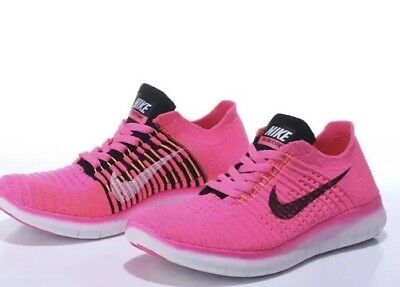 88562b8fc6771 NIKE FREE PINK Black Athletic Sports Gym Sneakers Shoes Women Size 6 ...