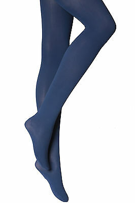 New Womens Ladies  Navy Semi Opaque Plain Tights 60 Denier Plus Size Xl-Xxl