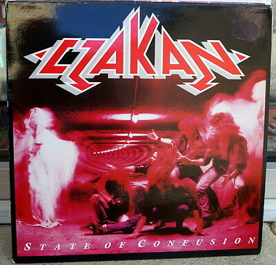 """Czakan """"State Of Confusion"""" RARE 1989 Hard Rock LP Germany"""