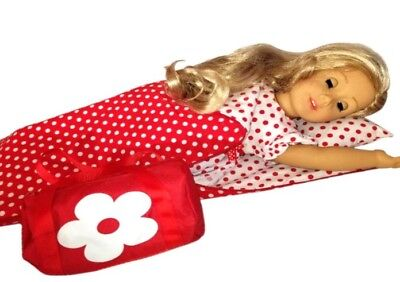 Christmas Dress Set compatible with American Girl Doll Clothes and Accessories