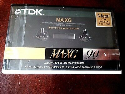 CASSETTE TAPE BLANK SEALED - 1x (one) TDK MA-XG 90 made in Japan - TOP METAL