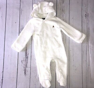 ef57406daf83d BABY UNISEX PRAM Suit Newborn Body Suit All In One Fluffy Mittens ...