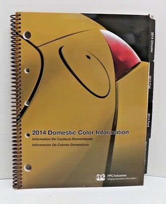 # PPG DOX371-14 2014 Car & Truck Domestic Color Chip Information Card Book EUC