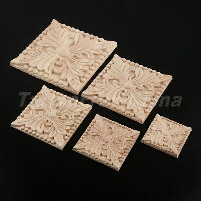European Style Wood Carved Mouldings Decal Cabinet Onlay Applique Decor Craft