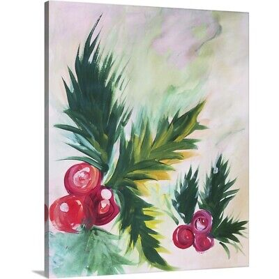 Solid-Faced Canvas Print Wall Art entitled Holly Abstract