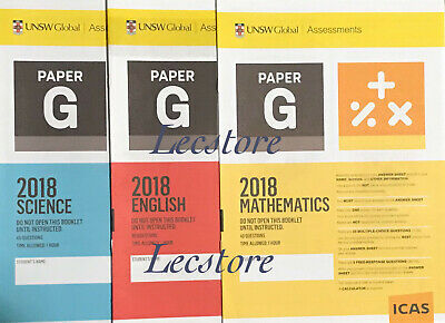 ICAS Year 9/10 set (Paper G/H) including 2018 papers