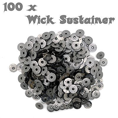 100x Wick Sustainers for Candle Making made of High-Quality Metal - diameter 2mm