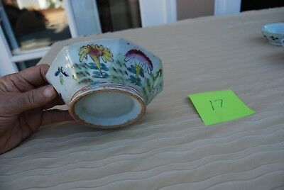 Antique 19th Century Chinese Famille Rose Footed Bowl