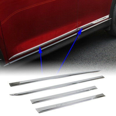 Car Door Body Side Stripe Molding Cover Chrome Trim For Mazda CX-5 CX5 2017 2018