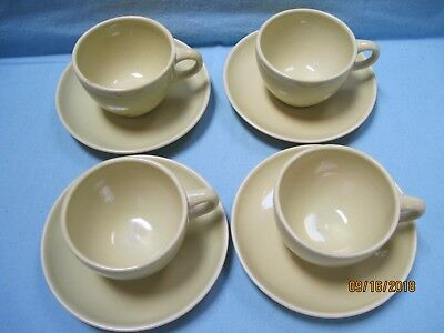 Russel Wright China by Iroquois Stoneware Cups & Saucers