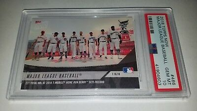 2018 Topps Now #466 All Star Game Home Run Derby Sets Record Card PSA 10 Gem