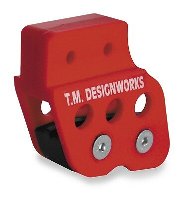TM Design Works Rear Chain Guide and Solid Powerlip Wear Pad Black #RCG-007-BK