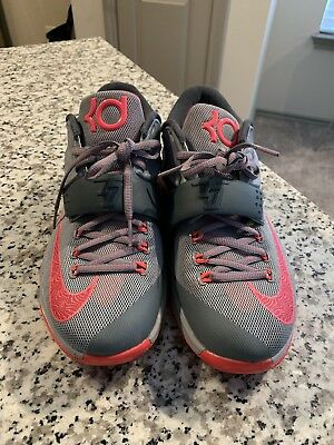 low priced bd8f4 2e6bd NIKE Men s KD VII 7 CALM BEFORE THE STORM GREY HYPER PUNCH 653996-060 Size