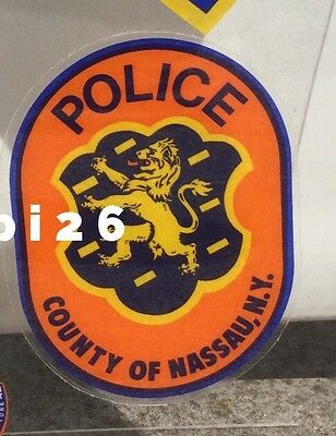 NY LI Nassau County Police INSIDE WINDSHIELD *AUTHENTIC Decal (faces out) Others