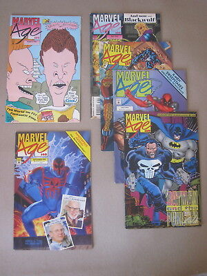 MARVEL AGE Collection including #138 Remembering JACK KIRBY (1994)