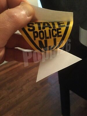 NJ NJS NJSP New Jersey State Police INSIDE WINDSHIELD *Authentic Decal