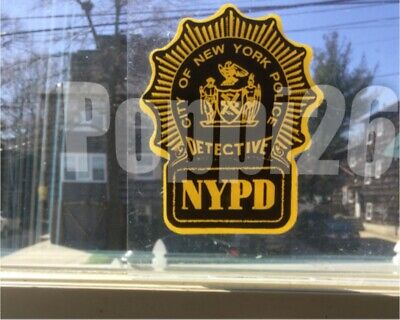 NYS NY City Detective Police InWindshield *Authentic Decal (faces out) **Others