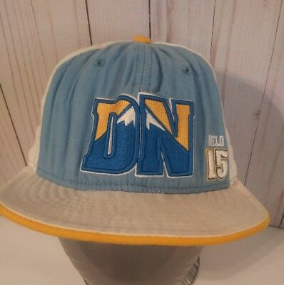 on sale 61e6a 6d648 ... discount code for denver nuggets new era nba 59fifty fitted hat cap  size 7 1 2