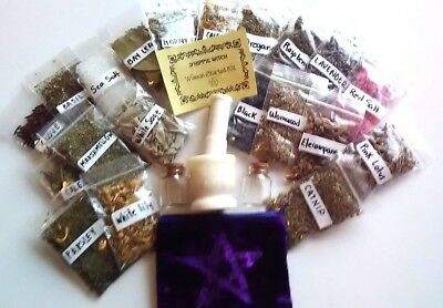 WICCA HERBS AND SALTS Starting Kit for Witch Spells Rituals Magic Witchcraft