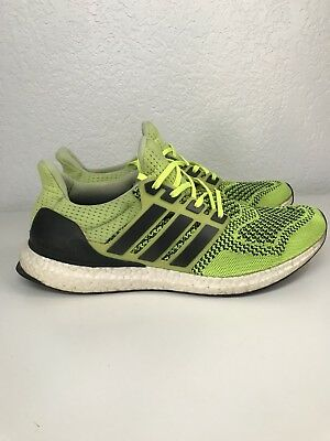 985ba2f21 Adidas Ultra Boost 1.0 Solar Yellow Black White PK Mens Size 10 Rare S77414