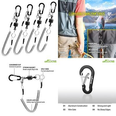 Ausleger Angeln MRC magnetisch Release Clip, 4 pc Magnetic Clip & Lanyard