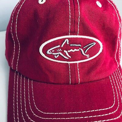 afd8a39a914 Greg Norman men s hat one size shark red all cotton embroidered ball cap