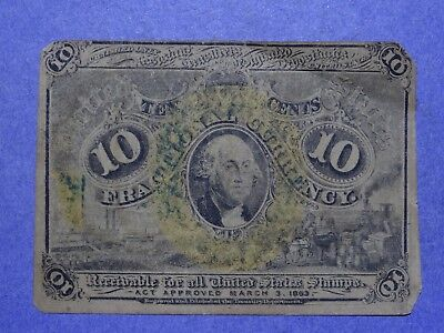10 Cent Fractional Currency Second Issue F-1244 VG