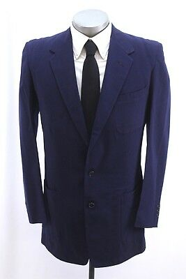 mens navy blue VINTAGE 40s 2pc PANT SUIT high waisted hollywood wool 40 L