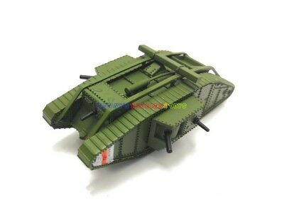 New 1/100 Diecast Tank WWI UK Mark MK. IV Male British Army Model Toy Soldiers