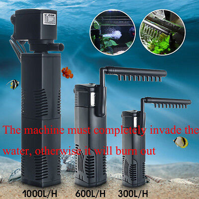 Hidom Internal Aquarium Fish Tank Filter Filtration Pump Spray Bar 300/600/1000L