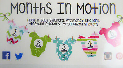 Months in Motion #317 Monthly Baby Girl Stickers Pink Cute Bugs Months 1-12