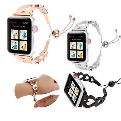 Stainless Steel Bracelet iWatch Band Watch Wrist Strap For Apple Series 4 3 2 1