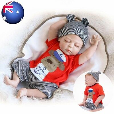 "23"" 58cm Reborn Baby Doll Soft Handmade Lifelike Newborn Sleepping Boy Doll Toy"