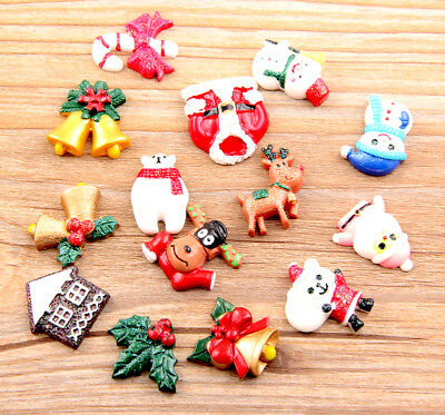 Free Ship 12Pcs Christmas flat back Resin Cabochon Scrapbooking Crafts