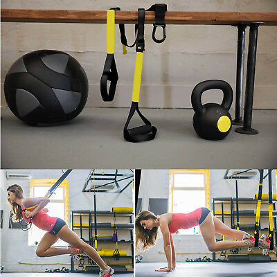 Resistance Straps Trainer Bundle Complete Bodyweight Training Home Gym Fitness