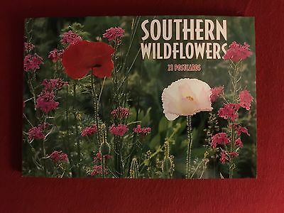Book Of 21 Southern Wild Flowers postcards