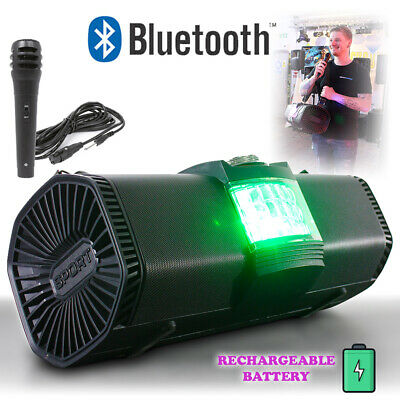 Portable Bluetooth PA Speaker with Microphone, Carry Strap Public Announcements